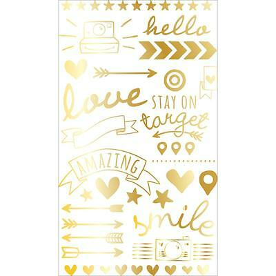 Gold Foil Rub Ons Transfers Project Life Scrapbooking Becky Higgins