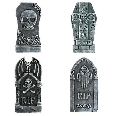 4X Tombstones Foam Gravestone Outdoor Halloween Decoration Prop Cemetery Haunt