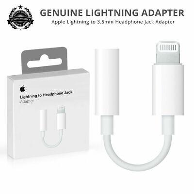 Genuine Apple Lightening to 3.5mm Audio Headphone Jack For IPhone X/8/7/7+