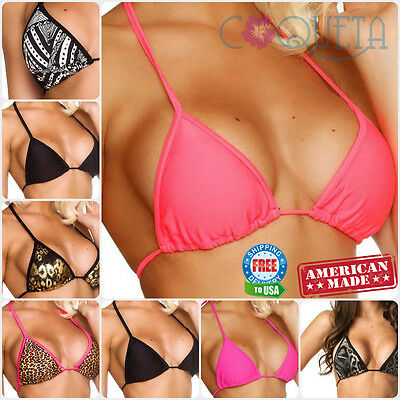 COQUETA Triangle TOP Removable PADDED Teeny BRAZILIAN BIKINI Swimwear LADIES (Triangle Top Bikini)