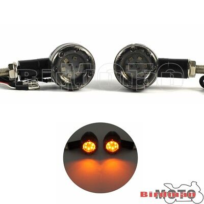 Universal Motorcycle AMBER & RED Mini Bullet LED Turn Signal Running Stop Light