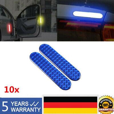 10x Aufkleber 3D REFLEKTOR selbstklebend Blau 100 x 25 mm LKW PKW Sicherheit