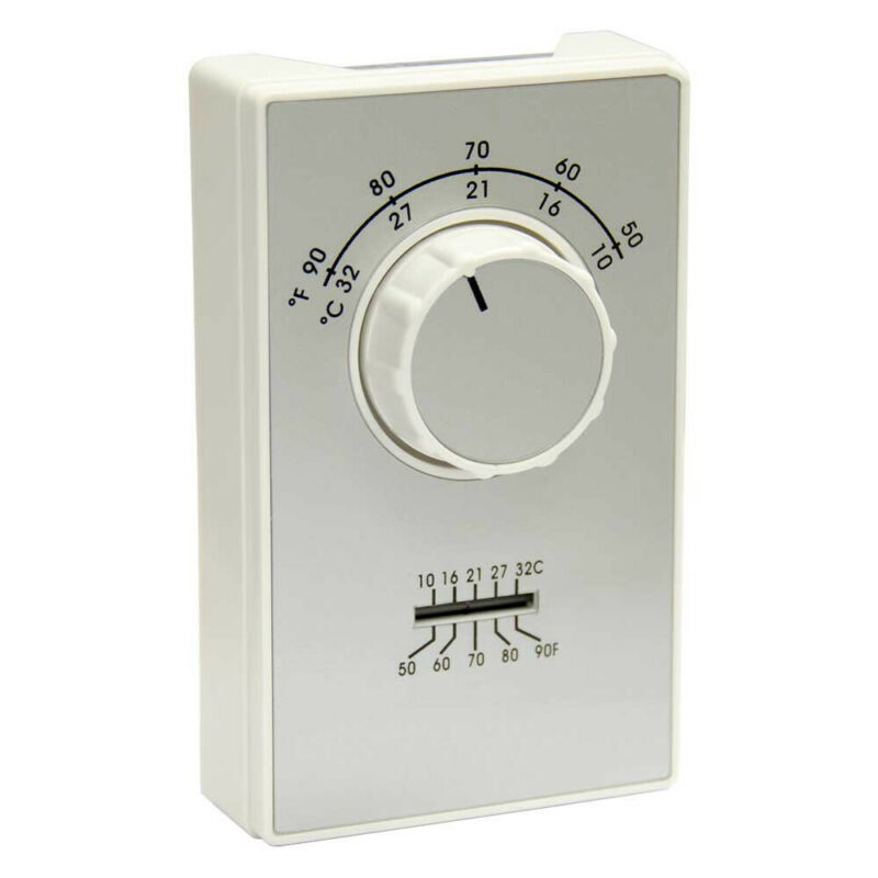 TPI ET9SRTS SPST Cool Only 120 Volt Line Voltage Thermostat with Thermometer