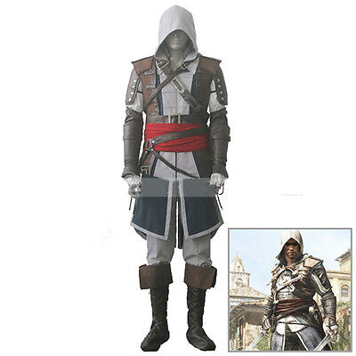 Assassins Creed 4 Black Flag Edward Kenway Outfit Uniform Herren Kostüme - Assassin Creed 4 Black Flag Kostüm