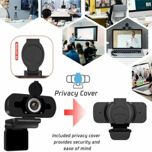 1080P Full HD USB Webcam for PC Desktop & Laptop Web Camera with Microphone/FHD 1
