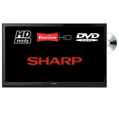 """Sharp LC-24DHF4011K 24"""" LED TV DVD Combi HD Ready With Freeview HD Unit Only"""