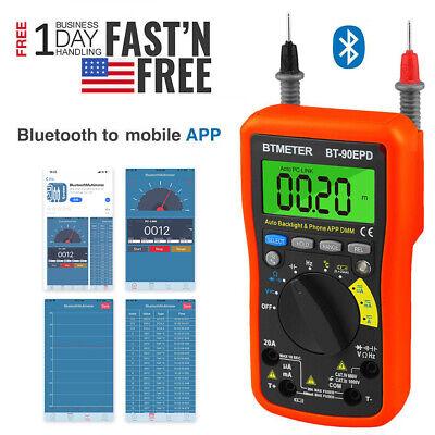 Bluetooth App Test Meters Digital Multimeter Auto Range Avometer Dmm 4000 Counts