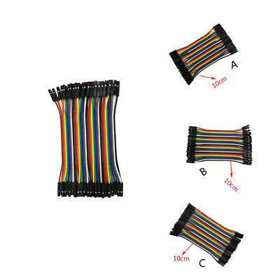 40pcs Dupont Line Bread Line M-f M-m F-f 10cm Jumper Breadboard Wire Cord