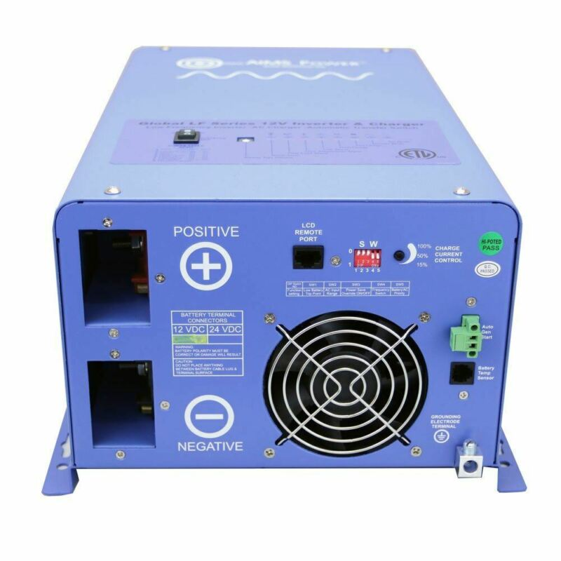 AIMS 1500 Watt Pure Sine Inverter Charger - ETL Certified Conforms to UL458 / CS