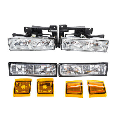 Headlights Assembly & Parking Corner Lights Left/Right for Chevy Truck/Suburban