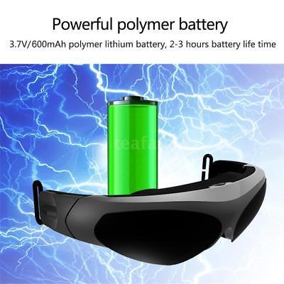 80 Inches Virtual Wide Screen Smart Video Glasses AV Input MP5 PS3 XBOX TV W5H5