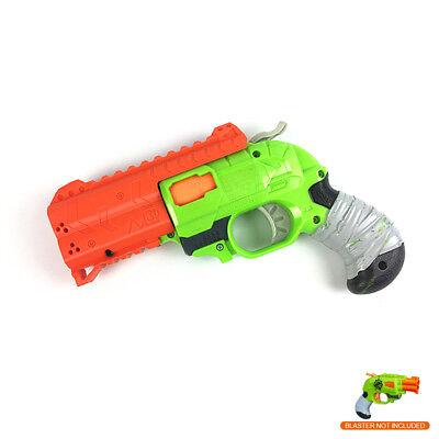 MaLiang 3D Print HandGun Barrel Rail Orange for Nerf Double Strike Modify Toy