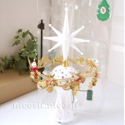 Hallmark 2014 Here Comes Santa Claus Magic Light Music Xmas Tree Topper Decor