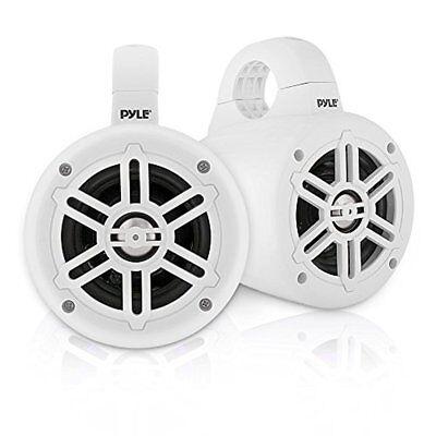 """Pyle Waterproof Marine Wakeboard White 4"""" Tower Speakers w/ Tweeters (Pair) for sale  Newburgh"""