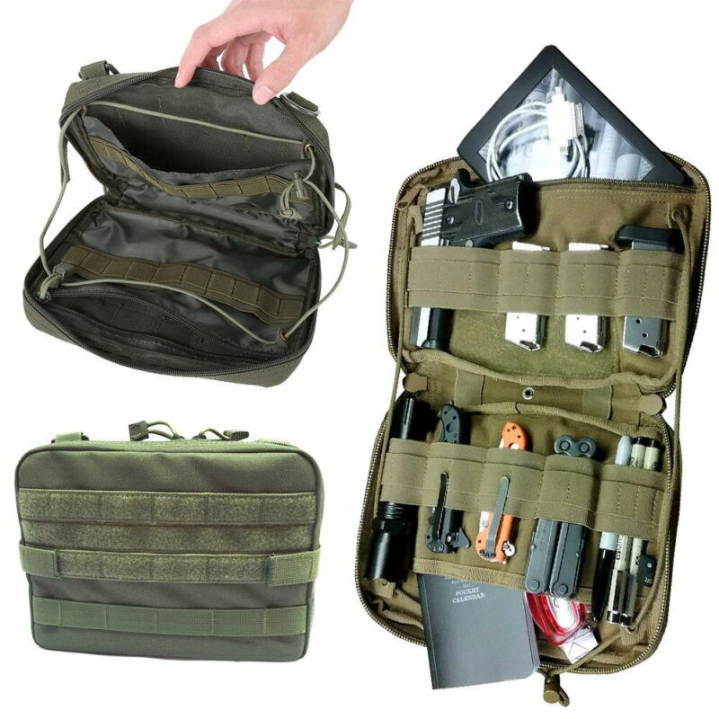 Tactical Molle Medical Kit Bag Belt Pouch Outdoor EDC Tool Organizer Bag