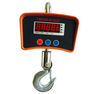 Digital Crane Hanging Scale Heavy Duty Industrial Lcd Display 1100lbs 500kg