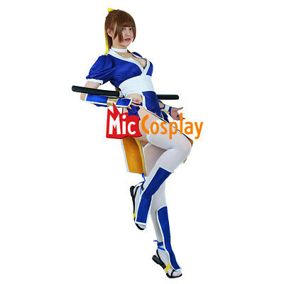 Kasumi Cosplay Costume Women Girl Blue Cheongsam Suit Outfit of Dead or Alive - Dead Girl Costumes