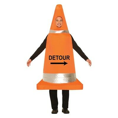 Traffic Cone Costume - Fancy Dress Stag Night Mens Funny Outfit Adult Road](Road Cone Halloween Costume)
