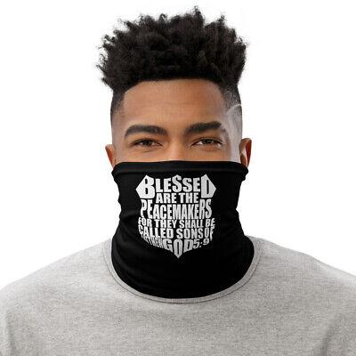 New Police Religious Saying Face Mask Neck Gaiter Black One Size Free Shipping