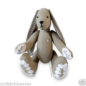 Sewing PATTERN Lacy Bunny Floppy Eared Bunny Rabbit 11