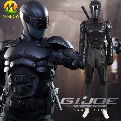 Halloween Costume Armor (G I Joe Retaliation Snake Eyes Cosplay Costume Men Armor Suit Halloween)