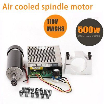 Cnc Spindle 500w Air Cooled 0.5kw Milling Motor And Spindle Speed Power