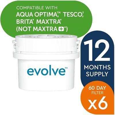6 Aqua Optima Evolve 60Day Water Filter Jug Refill fits BRITA MAXTRA 1 Year Pack