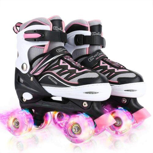 Adjustable Roller Skates for Girls, All 8 Wheels Light Shine, Safe and Fun