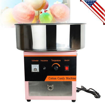 110v Electric Cotton Candy Machine Floss Maker Commercial Carnival Party Us Ship