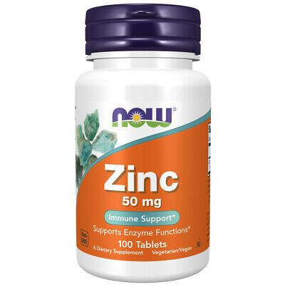 NOW Foods Zinc 50 mg, 100 Tablet