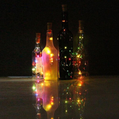 1//2//3//5M Cork Shaped Copper LEDs String Lights Wine Bottle Party Home Decor aa