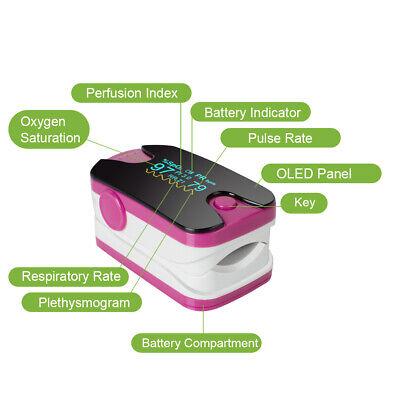 Fingertip Pulse Oximeter Spo2 Pr Pi Respiratory Rate Blood Oxygen Monitor Fda Ce