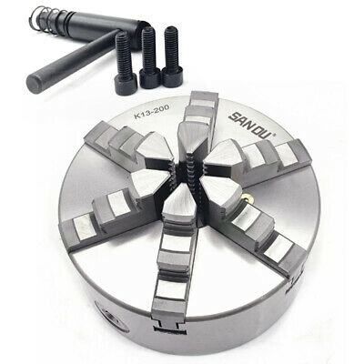 8 6 Jaw Lathe Chuck Self-centering Milling For Grinding Drilling Woodworking