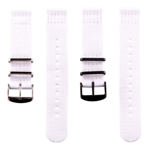2 Piece Classic NATO Solid Color Nylon Replacement Watch Band