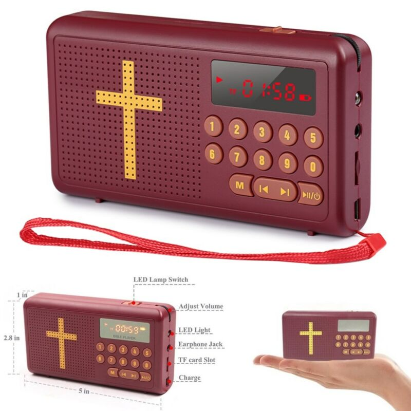 Rechargeable Electronic Bible Audio Player Talking King James Version - English