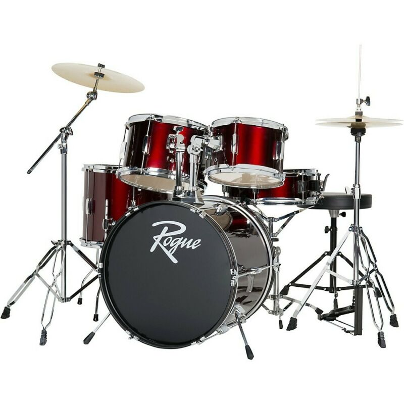 Rogue 5-Piece Complete Drum Set Wine Red