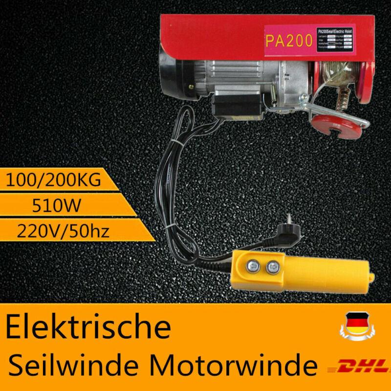 Electric Hoist Lifting Engine Heavy Duty Motor 200Kg Winch Hoist Crane 220V DHL