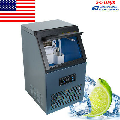 Ac110v Auto Commercial Ice Maker Cube Machine 50kg Stainless Steel Bar Home Sale