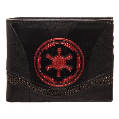 OFFICIAL STAR WARS EMPIRE SYMBOL CHROME STYLED BI-FOLD WALLET
