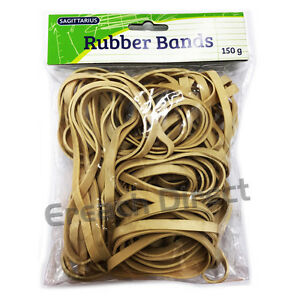 150g Strong Elastic Rubber Bands Assorted Size for Home School Office