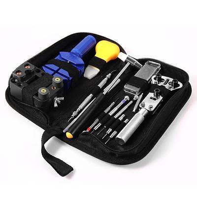 13 piece Watch Repair Tool Kit Zip Case Battery Opener Link Remover Screwdrivers