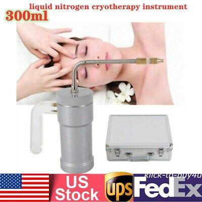 300ml Cryogenic Liquid Nitrogen Sprayer Cryotherapy Device Freeze Dewar Tank