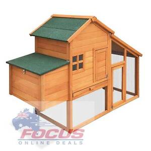 Wooden Pet Hutch with Nesting Box North Melbourne Melbourne City Preview