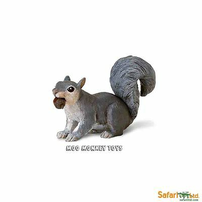 GRAY SQUIRREL with Acorn  Safari Ltd # 296129 Woodland Forest Animal Replica NWT