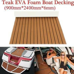 light brown & black Marine Flooring Faux Teak EVA Foam Boat Decking Sheet