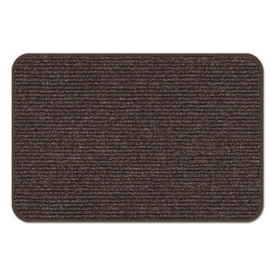 3 X 3 SKID-RESISTANT HEAVY-DUTY DOOR MAT TUSCAN BROWN outdoor rug