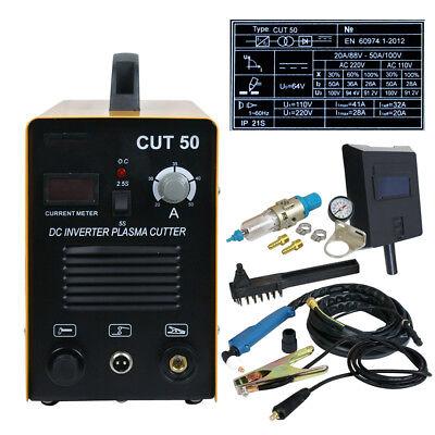Cut50 Air Plasma Cutter Electric Inverter Digital Cutting Machine 50amp Portable