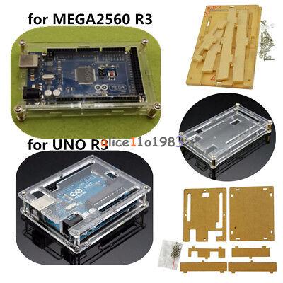 Enclosure Transparent Case Fit Arduino MEGA2560 R3 Arduino UNO R3  Acrylic Box