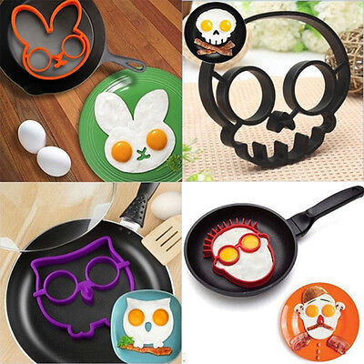 Cute Silicone Egg Fried Mould Shaper Ring ...