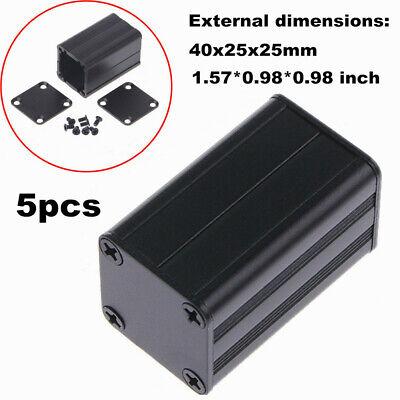 5pcs Diy Pcb Extruded Aluminum Project Box Enclosure Case Electronic 40x25x25mm